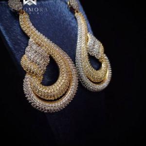 Imaginative Earring Insane Cliomora CZ Cubic Zirconia ZKE34