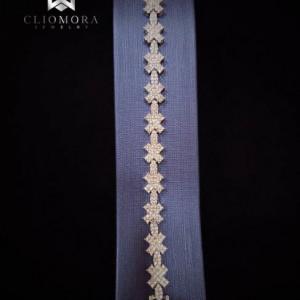 Lustrous Bracelet Striking Cliomora CZ Cubic Zirconia ZKB23