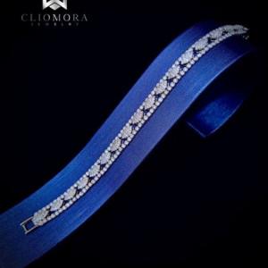 Extraordinary Bracelet Bright Cliomora CZ Cubic Zirconia ZKB19