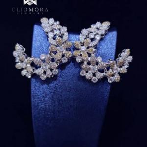 Fashionable Earnings Gleaming Cliomora CZ Cubic Zirconia ZKE8