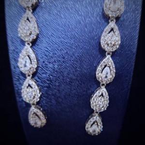 Luxury Earnings Breathtaking Cliomora CZ Cubic Zirconia ZKE5