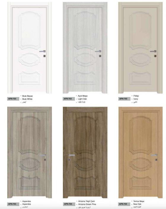 Interior doors modern style turkis