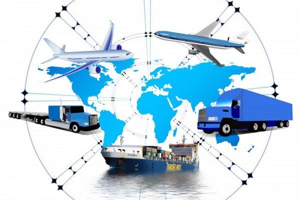 logistics, truck, cargo ship