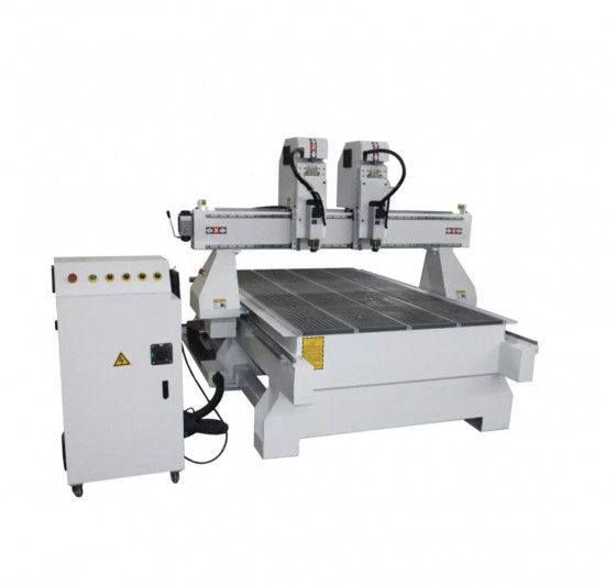 Independent 2 heads cnc router mac