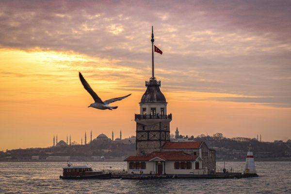 Turkish Residence, sunset, maiden's tower views