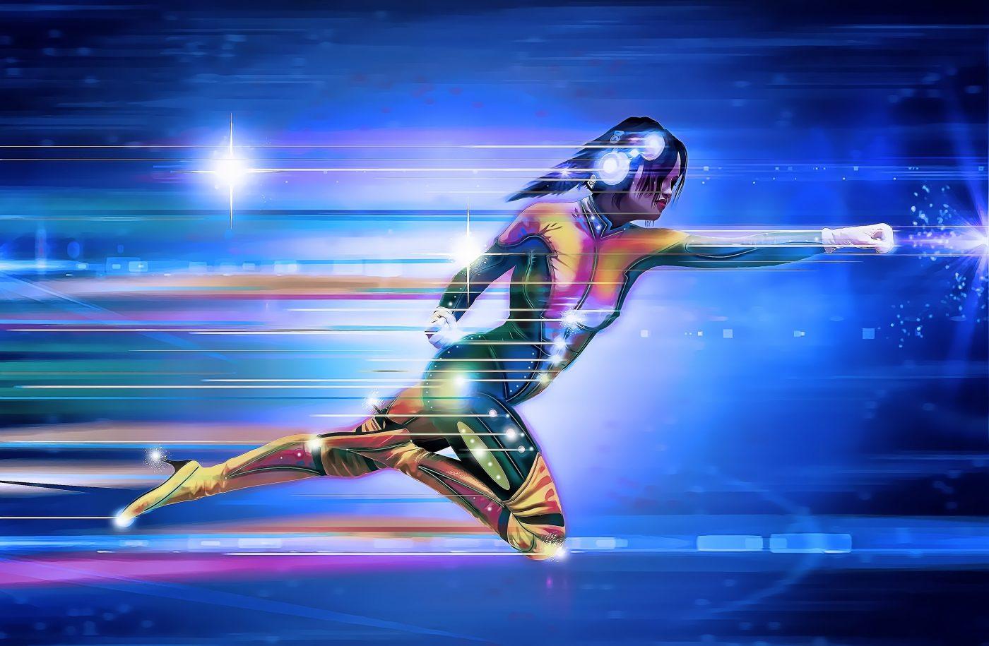 superhero, girl, speed