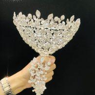 Aida Amazing Cubic Zirconia Bridal Bouquet Holder – ZH02